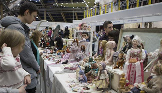 Doll exposition held in Moscow, Russia