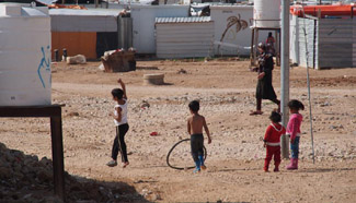 Daily life of Syrian refugees in Zaatari refugee camp