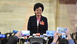 Ministers receive interviews before 2nd plenary meeting of 5th session of 12th NPC