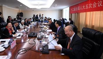 Plenary meeting of 12th NPC deputies from Macao opens to media