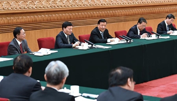 Senior Chinese leaders discuss socialist core values, ecological progress with lawmakers