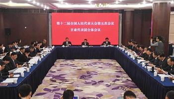 Plenary meeting of 12th NPC deputies from Gansu opens to media