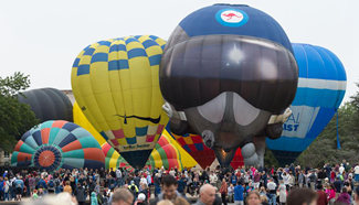 Hot air balloons seen in Canberra, Australia