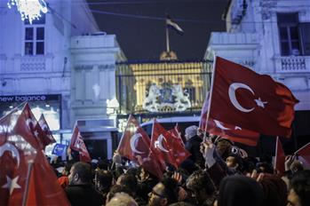 Protest bursts outside Dutch embassy in Turkey
