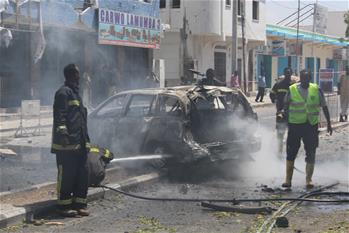 At least two killed in Mogadishu car bomb blast: police