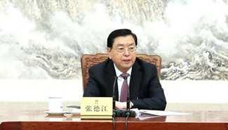 Zhang Dejiang chairs 3rd meeting of executive chairpersons of presidium