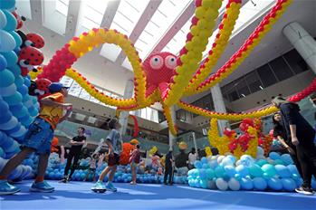 "Balloon exhibition ""Sea of Wonder"" held in Singapore"