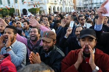 Libyans protest against presence of militias in Tripoli