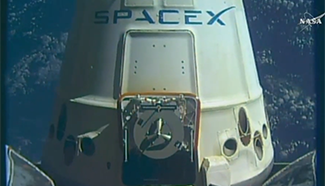 SpaceX Dragon cargo craft from International Space Station