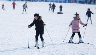 Popularity of winter sports begins to grow fast in E China's Jiangsu