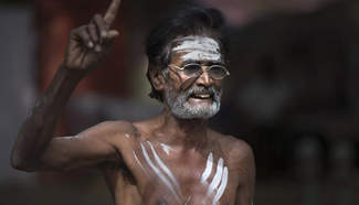 Indian farmers attend protest and hunger strike