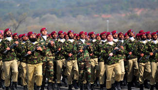 Pakistani troops rehearse for military parade of National Day