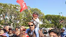 Independence Day celebrated in Tunis, Tunisia
