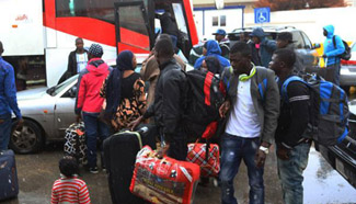 African migrants repatriated from Libya