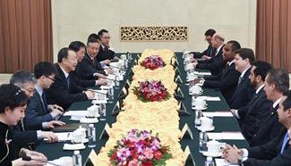 Du Qinglin meets delegation of Party of Brazilian Democratic Movement