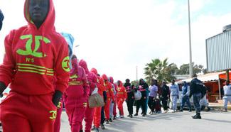 Nigerian migrants wait for repatriation at Tripoli's Mitiga Int'l Airport