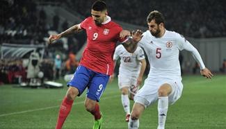 FIFA World Cup 2018 Qualifying: Serbia beats Georgia 3-1