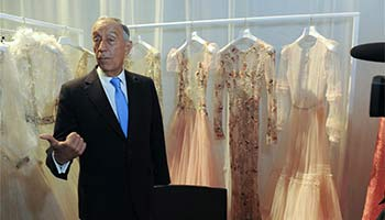 Portuguese president attends Portugal Fashion Week