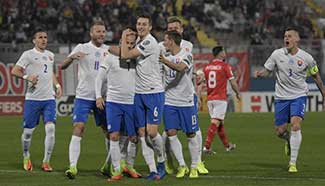 Slovakia beats Malta 3-1 in World Cup qualifier
