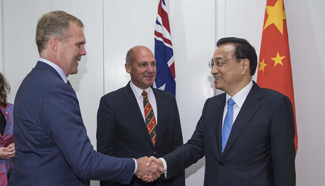 Chinese premier meets Australian parliament leaders, opposition party chief