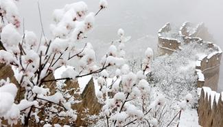 Snow scenery in suburban district of Huairou in Beijing