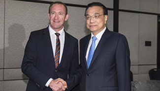 Chinese premier meets with leader of Labor Party of New Zealand in Wellington
