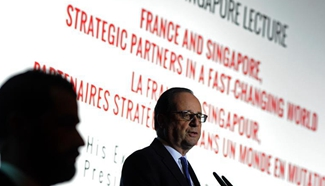 Hollande speaks at 40th Singapore Lecture