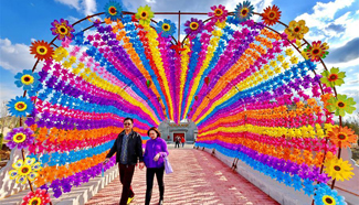 In pics: Pinwheel and Kite Festival in north China's Tangshan