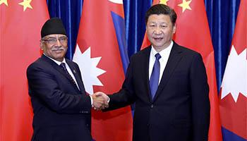 President Xi meets Nepali PM in Beijing