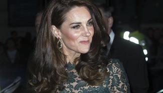 Britain's Duchess of Cambridge Kate arrives for 2017 Portrait Gala