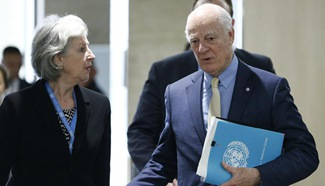 Syria peace talks held at Palais des Nations in Geneva