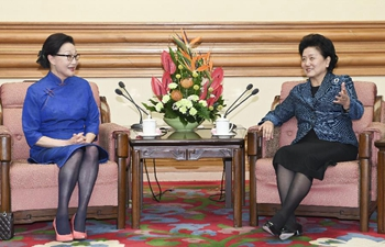 Vice premier meets U.S. overseas Chinese leader in Beijing