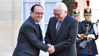 French president meets with German counterpart in Paris