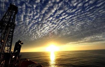 Sunset scenery of South China Sea