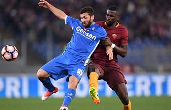 Roma beats Empoli 2-0 at Serie A soccer match