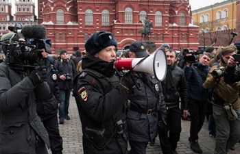 Over 20 detained at unsanctioned rallies in center of Moscow