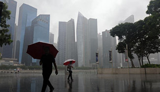 In pics: rainy day in Singapore