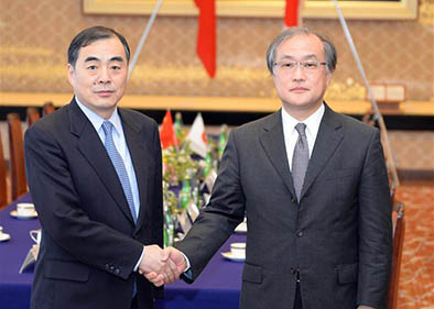 China, Japan senior diplomats exchange views at regular meeting