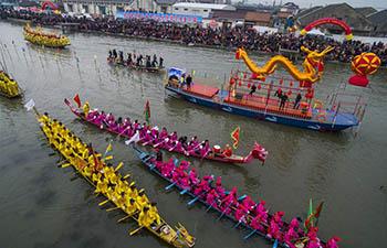 Boat meet held in Xinghua City, China's Jiangsu