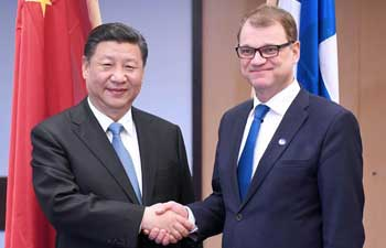 Chinese president meets Finnish PM on bilateral cooperation