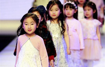 Models present collections in Shanghai