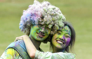 "People take part in ""Color Run"" in E China's Jiangxi"
