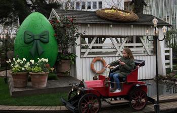 Easter eggs decorated in Tivoli Gardens, Copenhagen