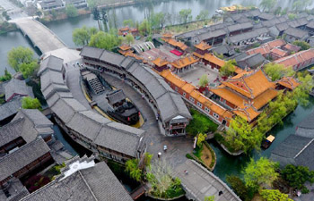Aerial photos of old city of Tai'erzhuang in E China