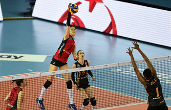 Galatasaray beats Vakifbank 3-0 in Turkish Women Volleyball League Playoffs Semi Final
