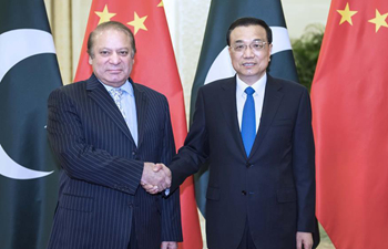 Chinese Premier Li meets with Pakistani PM Sharif in Beijing