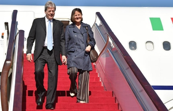 Italian PM Gentiloni arrives in Beijing to attend Belt and Road Forum