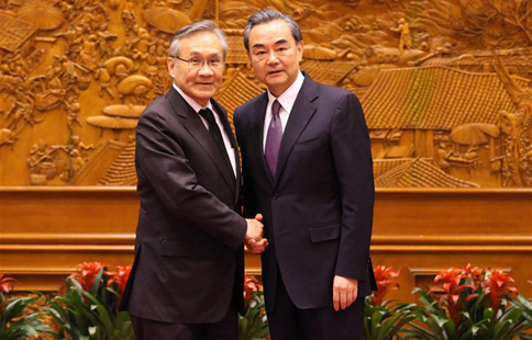 Chinese FM meets Thai counterpart in Beijing