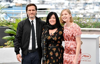 """Casts of film """"You Were Never Really Here"""" pose on Cannes Film Festival"""