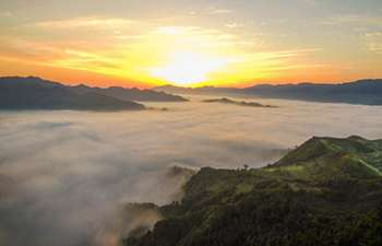 Morning sun seen in southwest China